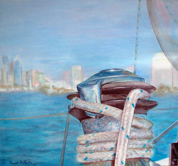 Landscape Art Print featuring the painting San Diego by Muriel Dolemieux