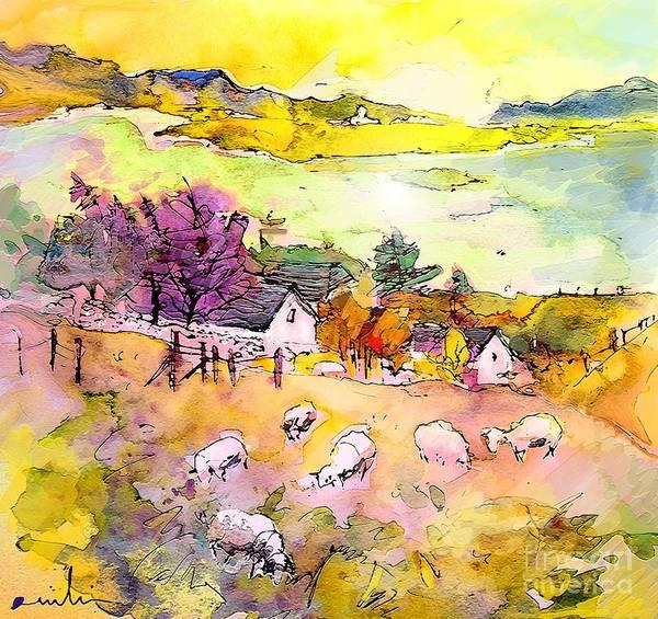 Scotland Art Print featuring the painting Scotland 20 by Miki De Goodaboom