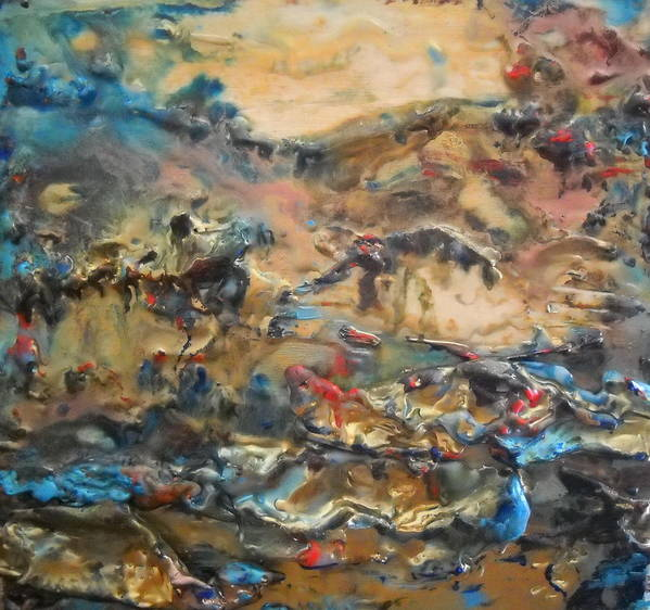 Dream Art Print featuring the painting Sea Of Dreams by Dawn Wilie