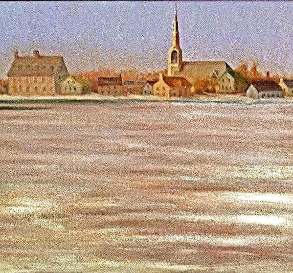 Art Print featuring the painting Springtime Lac St Louis Qc by Chris Riley