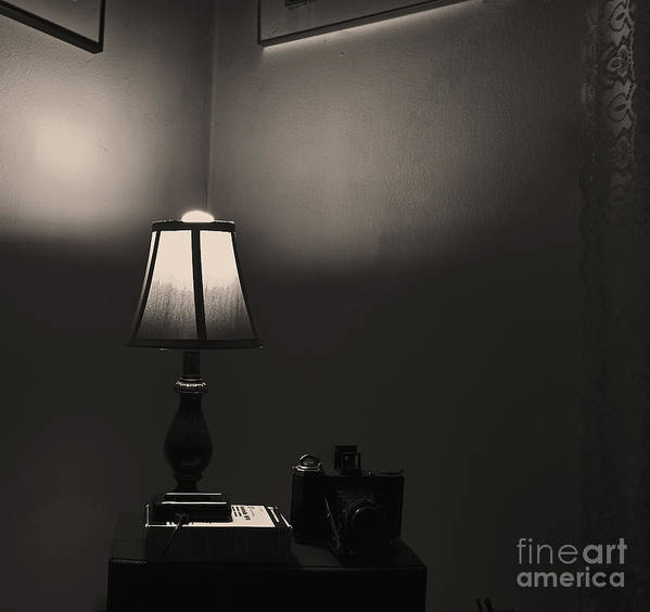 Still Life Art Print featuring the photograph The Lamp Shade. by Itai Minovitz