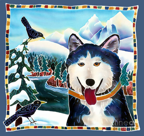 Dog Art Print featuring the painting Winter Fun by Harriet Peck Taylor