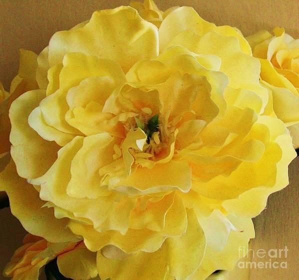 Yellow Art Print featuring the photograph Yellow Elagance by Marsha Heiken