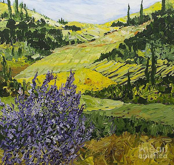 Landscape Art Print featuring the painting Pleasant Heart by Allan P Friedlander
