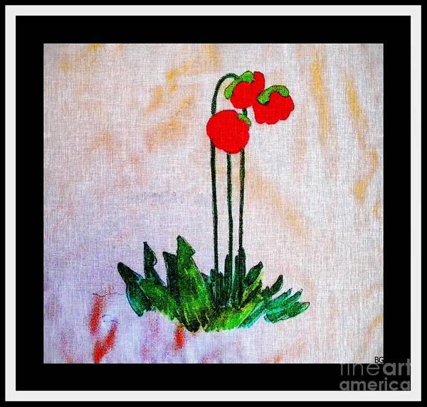 Newfoundland Pitcher Plant Art Print featuring the digital art Newfoundland Pitcher Plant by Barbara Griffin