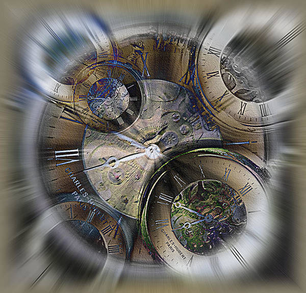 Watch Art Print featuring the photograph Pocketwatches 2 by Steve Ohlsen
