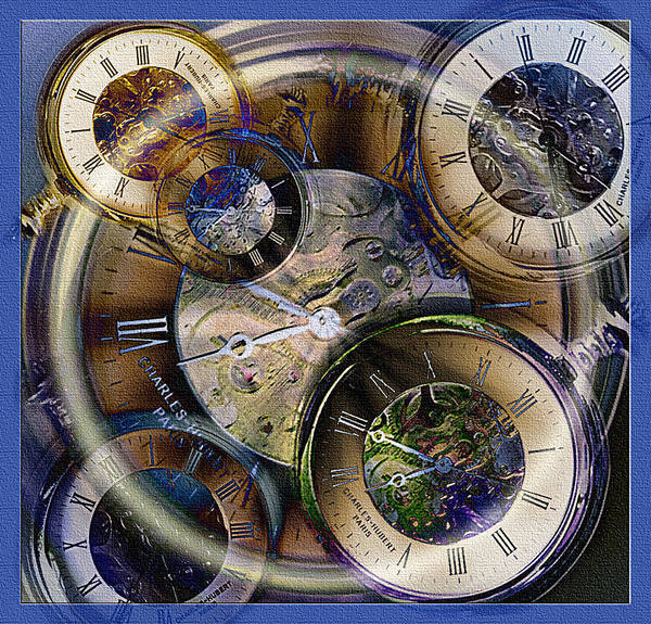 Watch Art Print featuring the photograph Pocketwatches by Steve Ohlsen