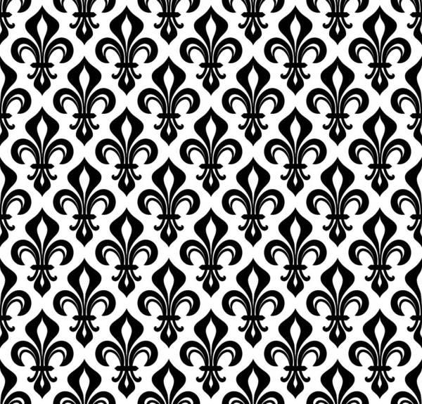 Royal Heraldic Lilies Fleur De Lis Wallpaper Background Seamless Pattern Art Print