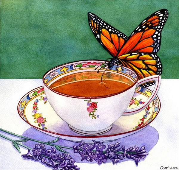 Butterfly Art Print featuring the painting Sweet by Catherine G McElroy