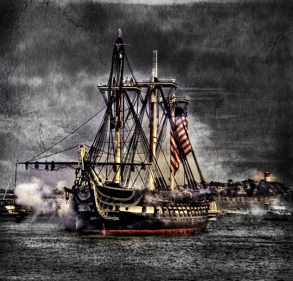 Boston Massachusetts Art Print featuring the photograph World's Oldest Commissioned Warship Afloat - Uss Constitution by Ludmila Nayvelt