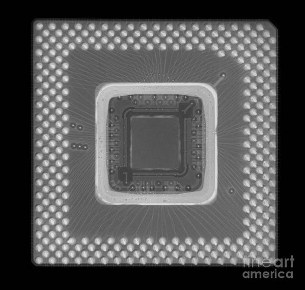 Xray Art Print featuring the photograph Central Processor by Ted Kinsman
