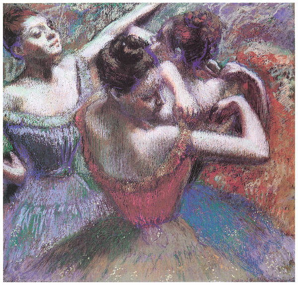 Dancers Art Print featuring the pastel Dancers by Edgar Degas