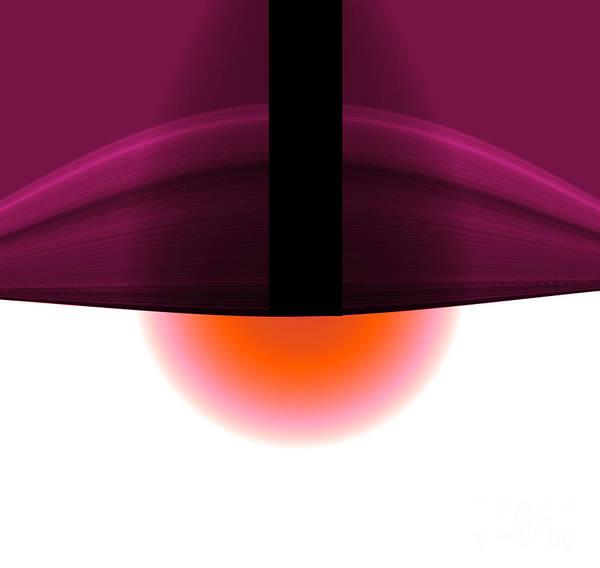 Art Print featuring the digital art The Lamp by Mihaela Stancu