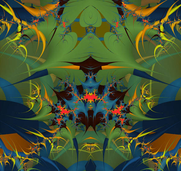 Abstract Art Print featuring the digital art Bizzare Strano by Monica Ghit