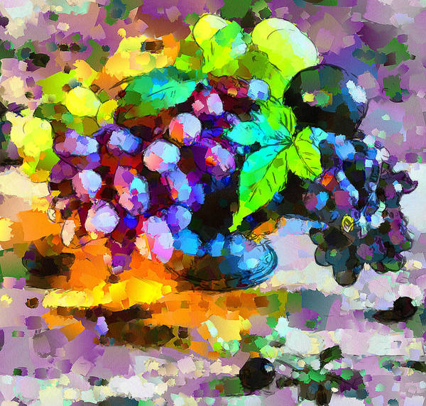 Bouquet Art Print featuring the digital art Bouquet Of Fruits by Yury Malkov