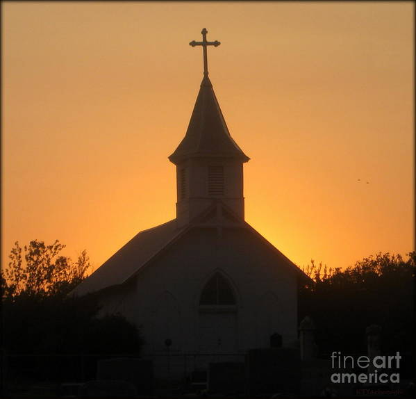 Church Art Print featuring the photograph Country Church by Kim Yarbrough