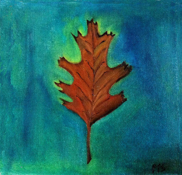 Fall Art Print featuring the painting Oak Leaves by Prachi Shah