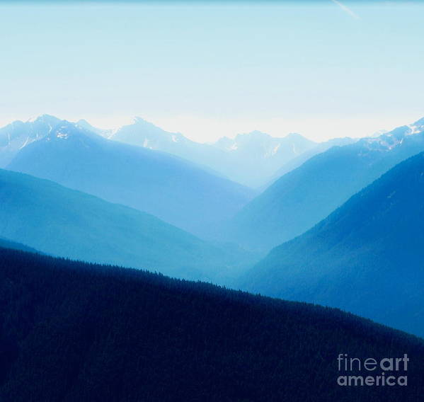 Infinity Art Print featuring the photograph Blue Infinity by Idaho Scenic Images Linda Lantzy