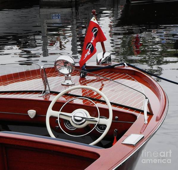 Boat Art Print featuring the photograph Chris Craft Sportsman by Neil Zimmerman