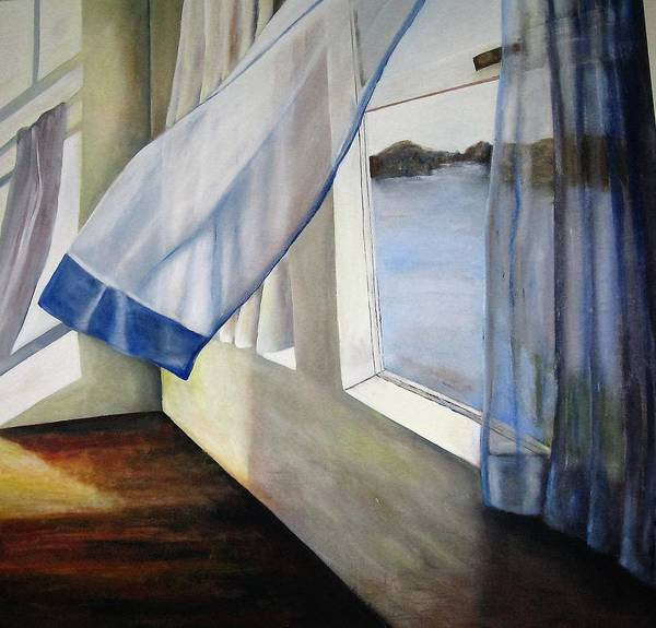 Landscape Art Print featuring the painting Cindy's Window by Eileen Kasprick