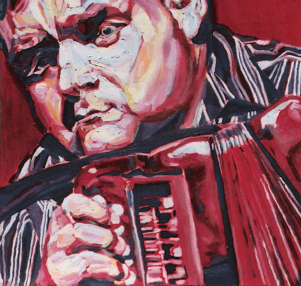David Munelly Art Print featuring the painting David Munelly by Ellen Lefrak