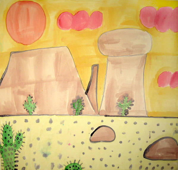 Desert Art Print featuring the painting Desert by Sean Cusack