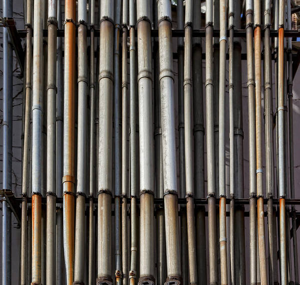 Pipes Art Print featuring the photograph Factory Pipes by Robert Ullmann