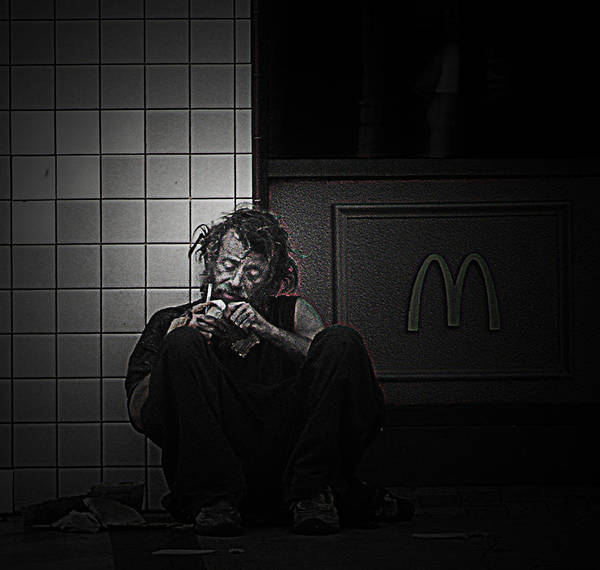 Homeless Art Print featuring the photograph Homeless In Los Angeles by LoungeMode Production Art