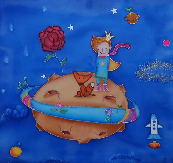 Space Art Print featuring the painting Small Prince by Tatiana Antsiferova