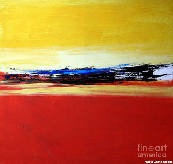 Abstract Art Print featuring the painting Summer by Mario Zampedroni