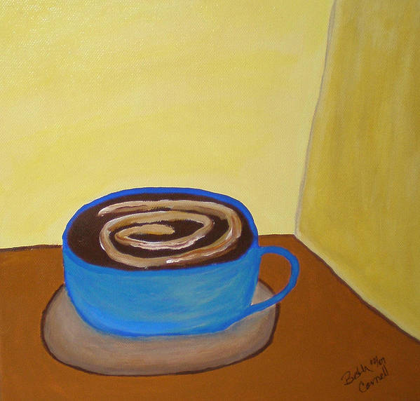 Universal Mocha Art Print featuring the painting Universal Mocha by Beth Cornell