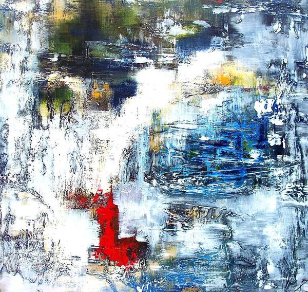 Modern Art Print featuring the painting Water Water Everywhere by Jane Robinson