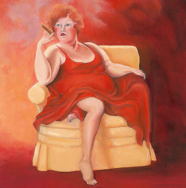 Lady In Red Art Print featuring the painting Whatever Happened To The Dreams by Irene Corey
