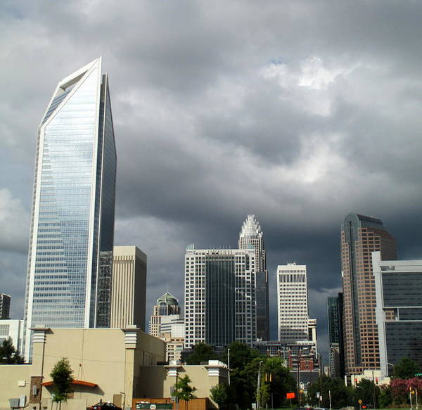 Charlotte Art Print featuring the photograph Charlotte Skyline by Randall Weidner