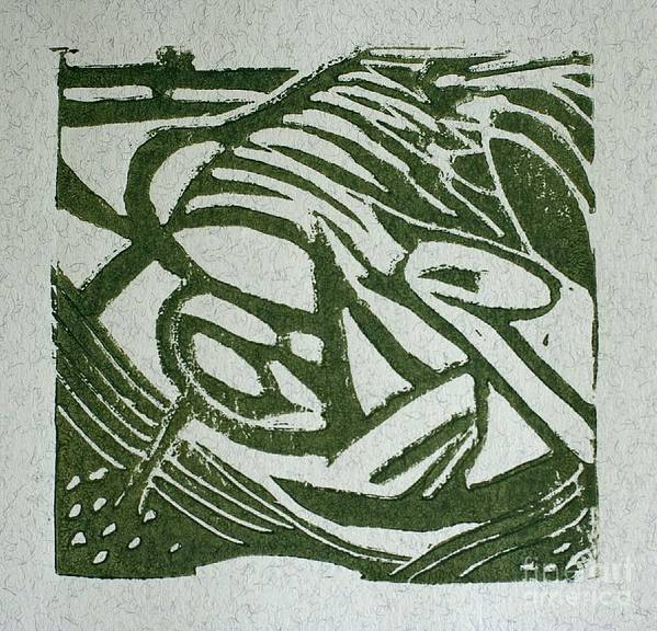 Lino Cut Art Print featuring the mixed media Hidden Horse by Christiane Schulze Art And Photography