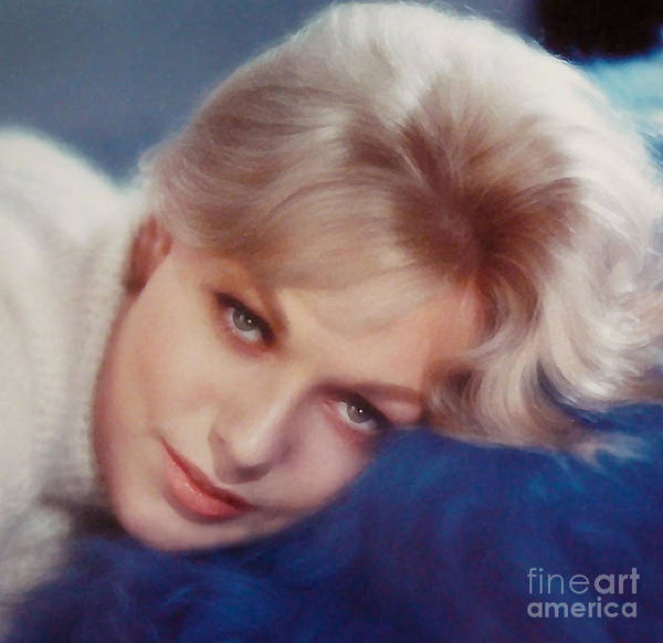 Kim Novak Hollywood Actress Print featuring the photograph Kim Novak Blue by Frank Bez