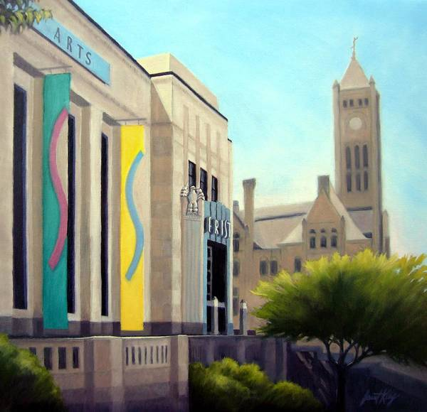 Frist Center For The Visual Arts Art Print featuring the painting The Frist Center by Janet King