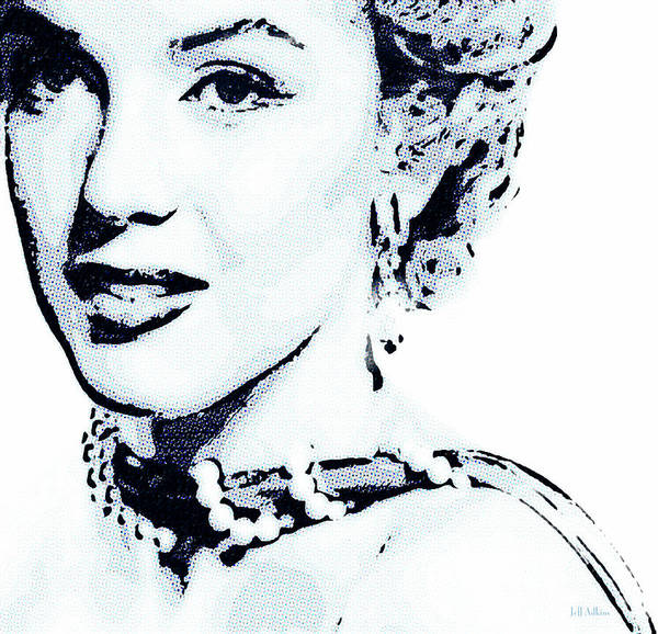 Actress Art Print featuring the photograph Marilyn by Jeff Adkins