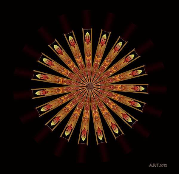 Mandala Art Print featuring the digital art Ten After 42 by Arthur Thompson