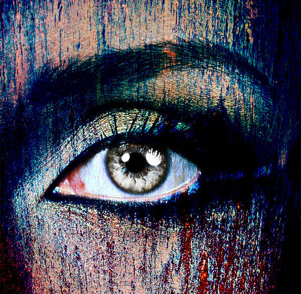 Human Eye Art Print featuring the photograph Under by Yosi Cupano