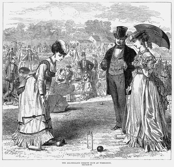 1870 Art Print featuring the photograph Wimbledon: Croquet, 1870 by Granger