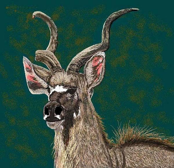African Wildlife Art Print featuring the digital art A Proud Soul by Carole Boyd