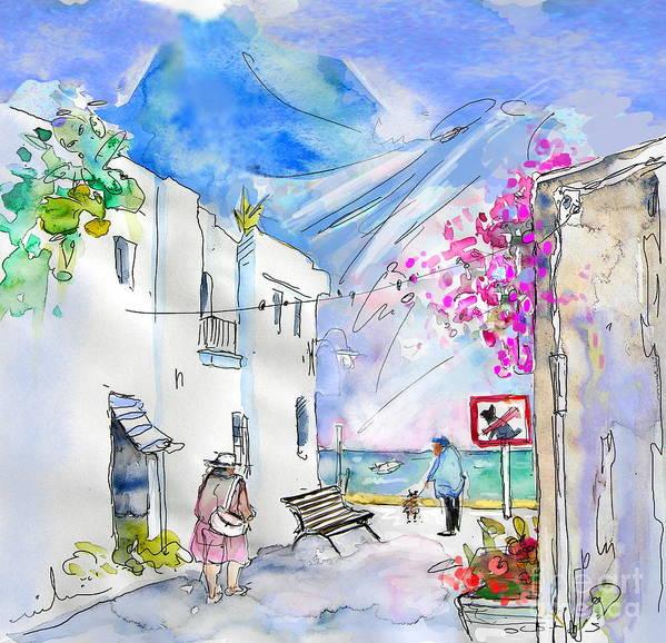 Almeria Art Print featuring the painting Agua Amarga 06 by Miki De Goodaboom