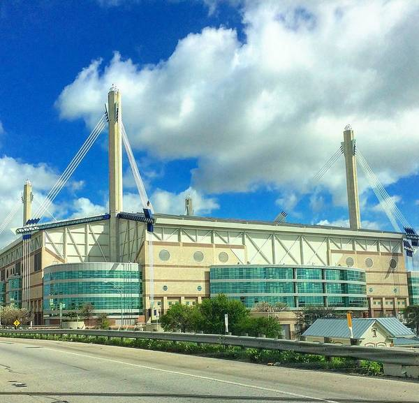 Architecture Art Print featuring the photograph Alamodome by Rancher's Eye Photography