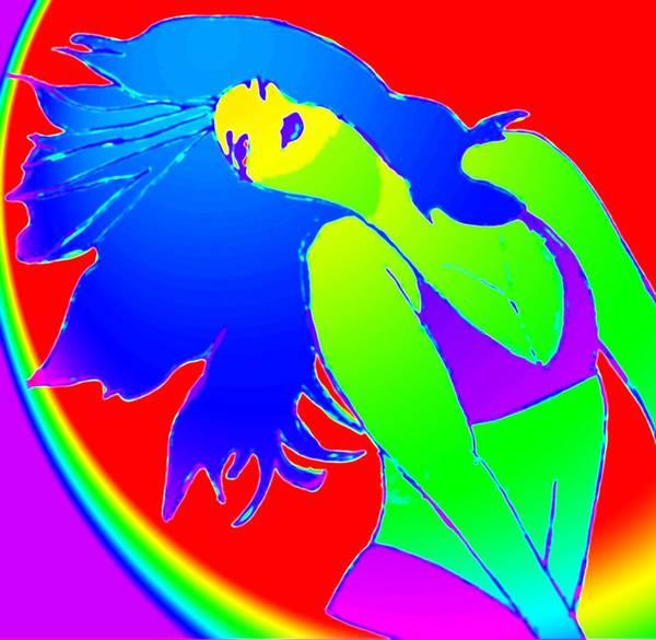 Woman Art Print featuring the drawing Beauty If A Rainbow by Jennifer Ott