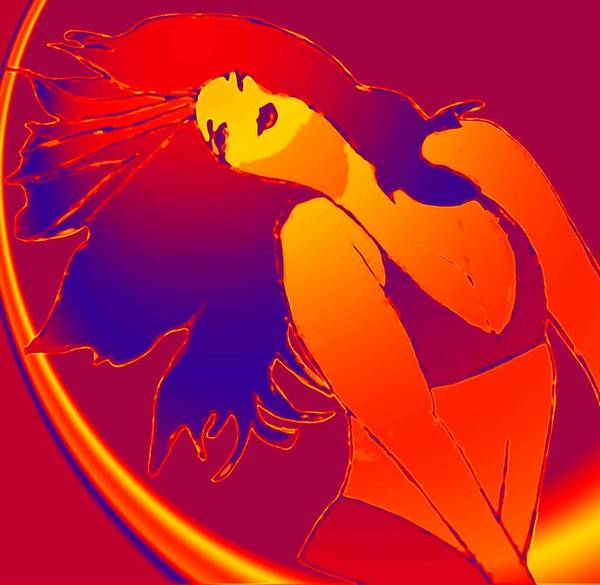 Woman Art Print featuring the drawing Beauty Is A Rainbow Red by Jennifer Ott