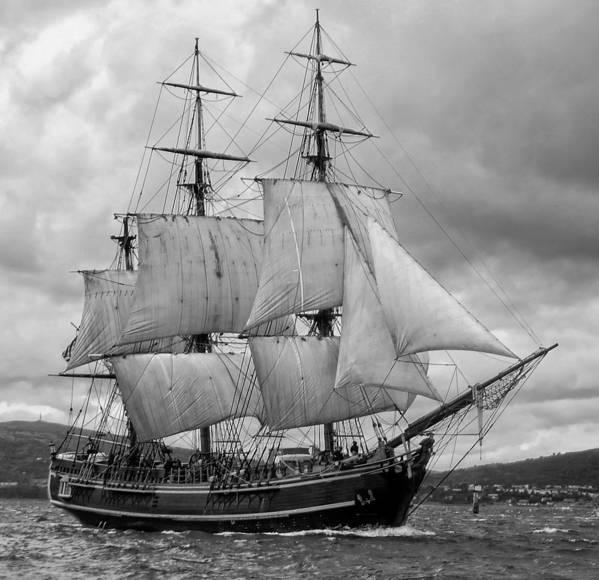Tall Ship Art Print featuring the photograph Bounty by John Hughes
