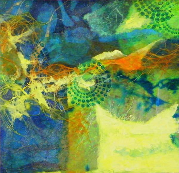 Mixed Media Art Print featuring the painting Circles 4 by Tara Milliken