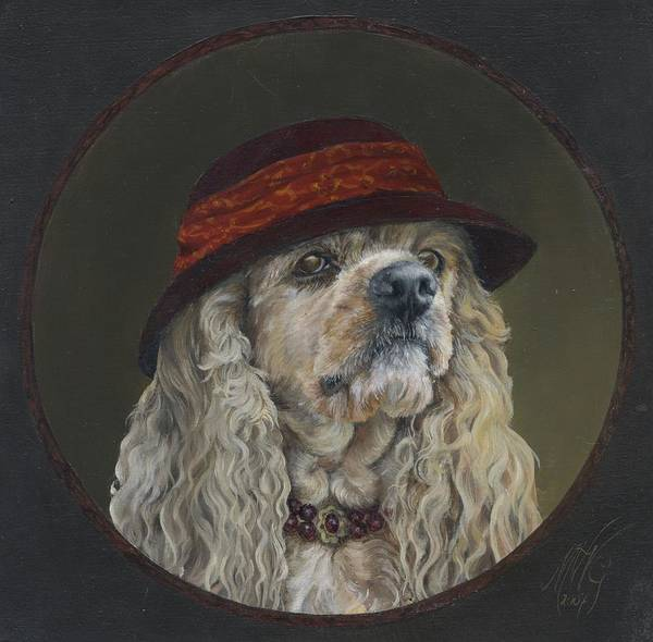 Dog Art Print featuring the painting Eufrasie by Monique Geurts