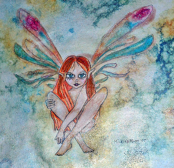 Fairy Art Print featuring the painting Fairy Dust by Mickie Boothroyd
